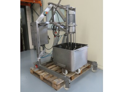 High shear mixer with frame