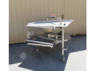 90 Deg 850mm Wire Belt conveyor