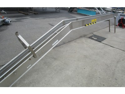 Used incline conveyor [C03] -  200 mm x 5110 mm
