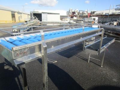 Used conveyor [C32] -  Roller Box Packing Conveyor - 350 mm x 2560/2080 mm