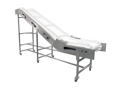 400mm Cleated Incline Conveyor with Wave Edge