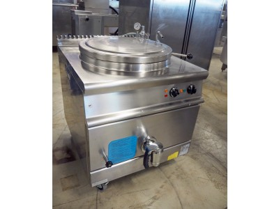 150L Stainless Steel Electric Boiling Pan with Indirect Heating