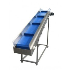 Incline Cleated Blue Belt Conveyor