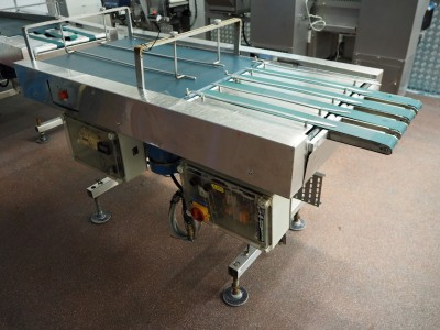 Stainless Steel Converging Conveyor (4x 63 mm)