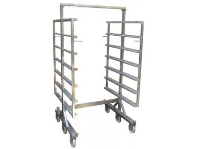 PACIFIC 8 Rack Stainless Steel Smoke House Trolley