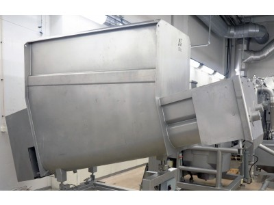 CFS 2000L Stainless Steel Infeed Bunker