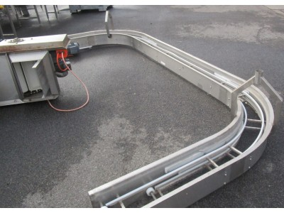 Used C-bend conveyor [C09] -  220 mm x 3730 mm