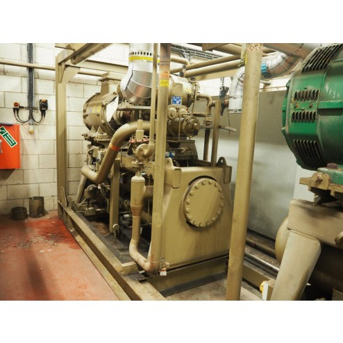 2x SAB163HF Sabroe Screw Compressors for Spiral Freezer