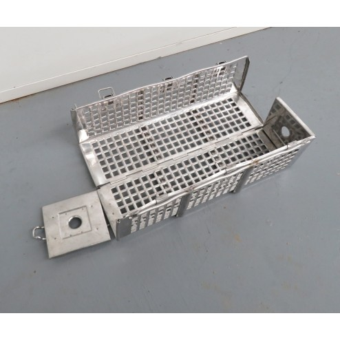 Used Stainless Steel Ham Mould / Press (365 x 105 x 105 mm)