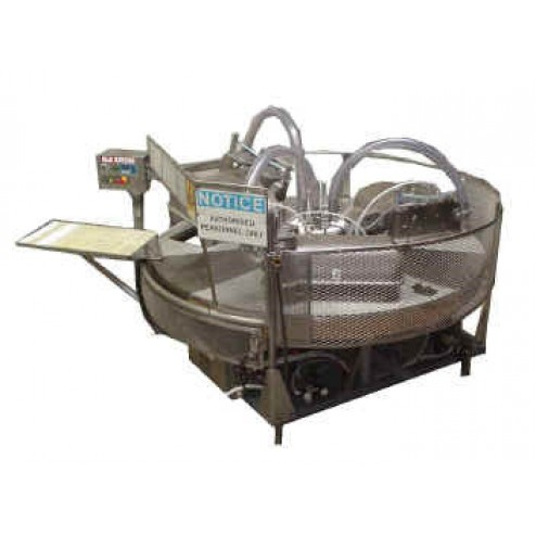 OLD RIVERS 8630T - 18 inch, 3 Chamber, Conveyor In-feed with Drop Out-feed Rotary Vacuum Packing Machine