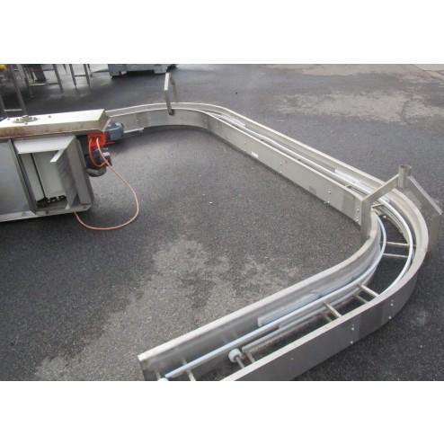 Used C-bend conveyor [C09] -  220 mm x 3730 mm
