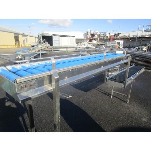 Used conveyor [C32] -  Roller Box Packing Conveyor - 350 mm x 2560/2080 mm