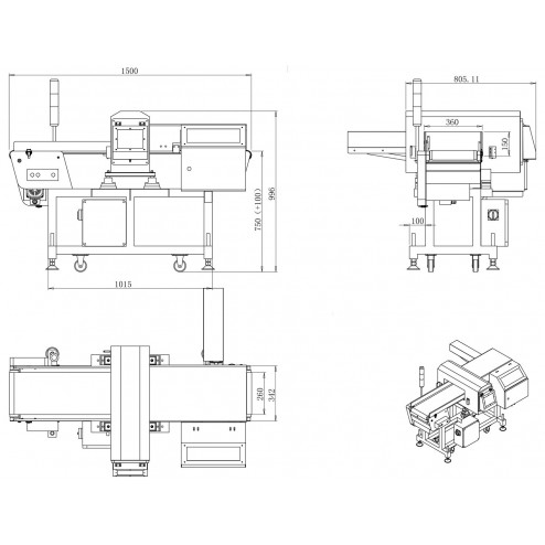 Techik IMD-II 4012 Metal Detector (Detection Window: 400mm x 120mm)