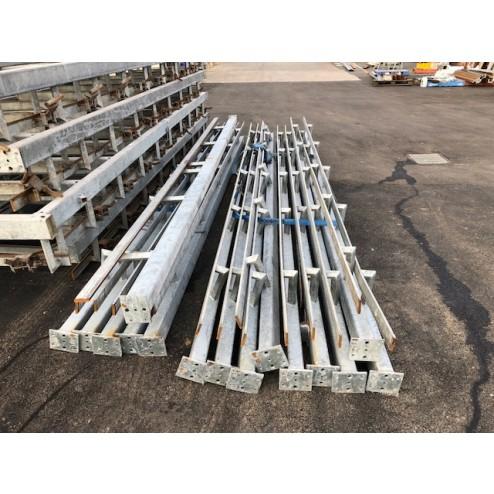 Galvanised meat rails