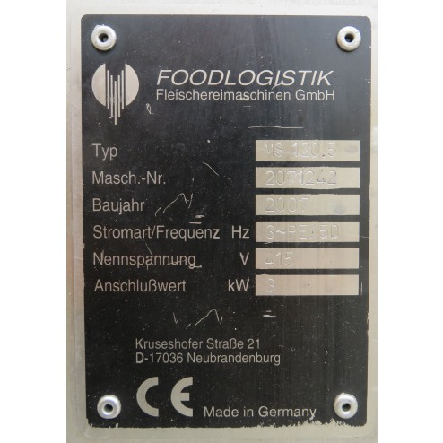 Foodlogistik Multipurpose MS 120.5 Dicer