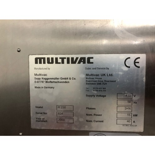 Multivac R230 Thermoformer