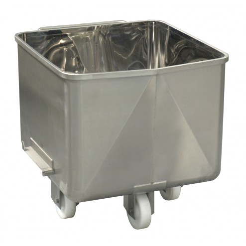 PACIFIC 200L Stainless Steel Dump Bin with Drain