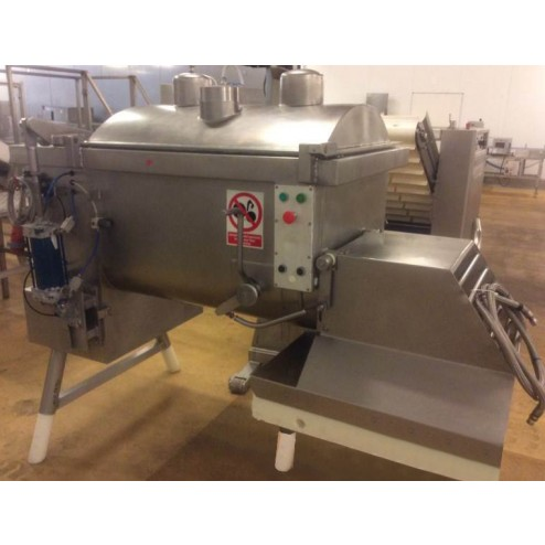 Risco RS450 Frontal Discharge Twin Paddle Mixer with Co2 Cover