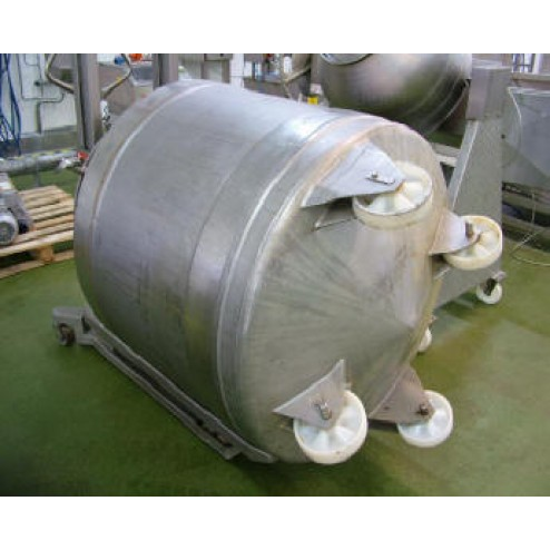 SFK Danftech MA 1000S Stainless Steel Tipping Tumbler Barrel Mixing Rotator