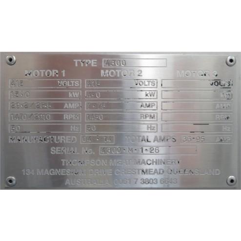 Thompson 4300 Mixer Mincer