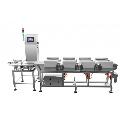 Techik Multi-Sorting Checkweigher with 8 Level Sorting Line 10g - 600g