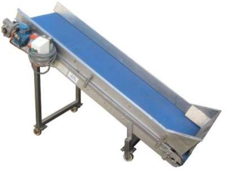 Incline Blue Belt Conveyor Conveyors Conveying