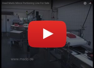 Used MADO automatic mince portioning line for sale